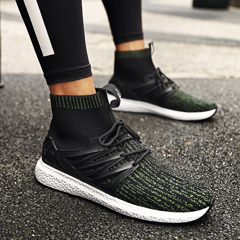 Underwear & Sleepwears New Breathable Socks Mens Shoes Individuality Comfortable Sports Shoes High Shoes 2019 Men Chaussures De Course Outdoor Sneakers