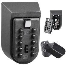 ミニアルミ合金ウォールマウントキー金庫ホルダーコンビネーションパスワードマスターロックオーガナイ屋外セキュリティ機器