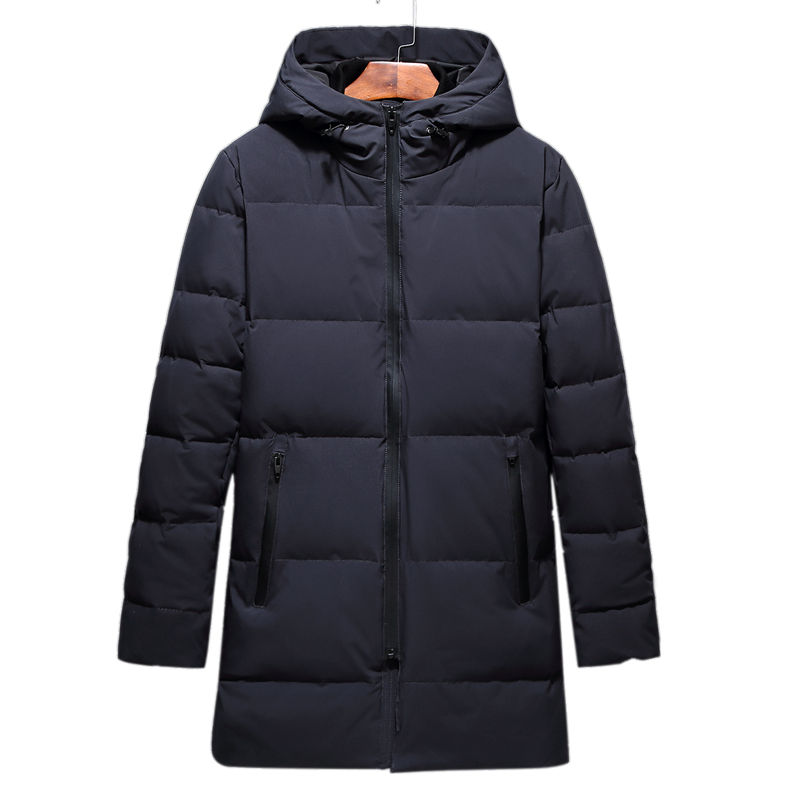 NEW Winter Long Parka Men Jacket Coat Outerwear Fashion Hood Padded Quilted Warm Male Jackets Hooded Casual Thick down jacket quilted jacket male mid long parka new winter thicken warm hooded fur collar cotton padded coat men s snow jackets windproof