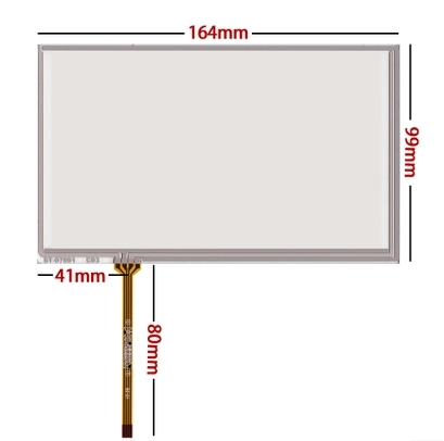 164*99 New 7 Inch Touch Screen For AT070TN90 AT070tn92 94 Industrial Touch Screen