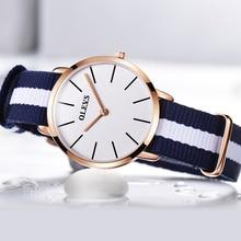 Ocio de la manera de las mujeres ultra-delgado impermeable de nylon de lujo superior relojes de marca, reloj de cuarzo simple regalos necesario original MS ver cloc
