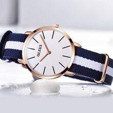 Women's fashion leisure ultra-thin waterproof nylon top luxury brand watches, quartz simple gifts necessary original ms see cloc