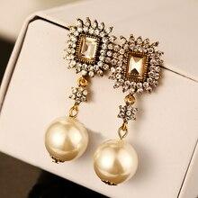 Sales CNANIYA Brand Jewelry Abs Pearl Drop Earrings Women Noble Style Long Earrings Dangle Boucle Doreille Orecchini/Wholesale