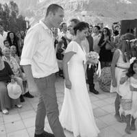 Casual Beach Wedding Dresses Cap Sleeve Pearls Lace Chiffon Floor Length Empire Bridal Gowns Vestidos De