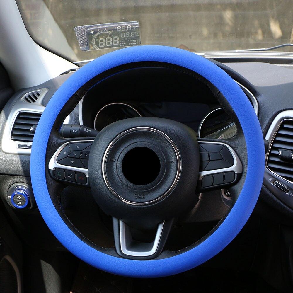 Actief Zachte Siliconen Auto Stuurhoes Super Voelen Silicadeeltjes Gel Voor Peugeot 2008 3008 207 206 508 4008 Jaar 2014 -2017 2018 Acc. Geselecteerd Materiaal