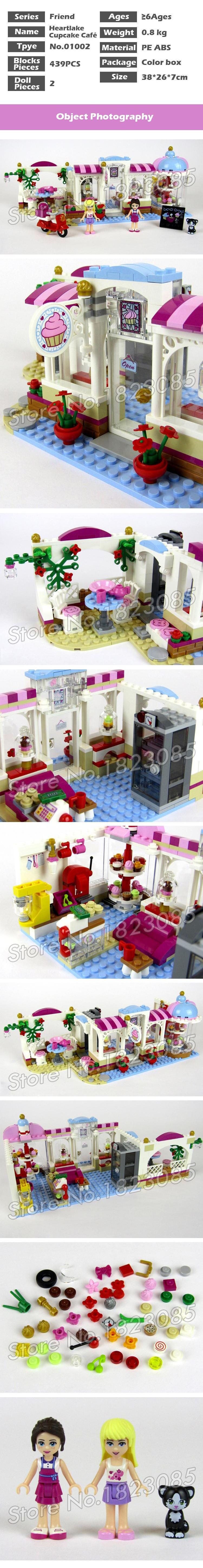 439pcs Friends Heartlake City Cupcake Cafe Ice Cream Shop 10496