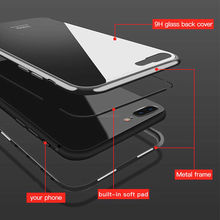 Mobile Cell Phone Shockproof Cover Tempered Glass Magnetic Adsorption for Vivo Y81