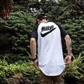 Kanji camiseta Anarquia Big Sam Excursão YeezyS KANYE WEST MA1 piloto Homens Yeezy Japonês MERCH MA-1 BOMBARDEIRO Hem expandir AMD304 Tee