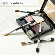 Beauty Artisan 4Pcs/pack Disposable Double-end Eye Shadow Sponge Lip Eyebrow Eyeliner Applicator Makeup Brushes Set
