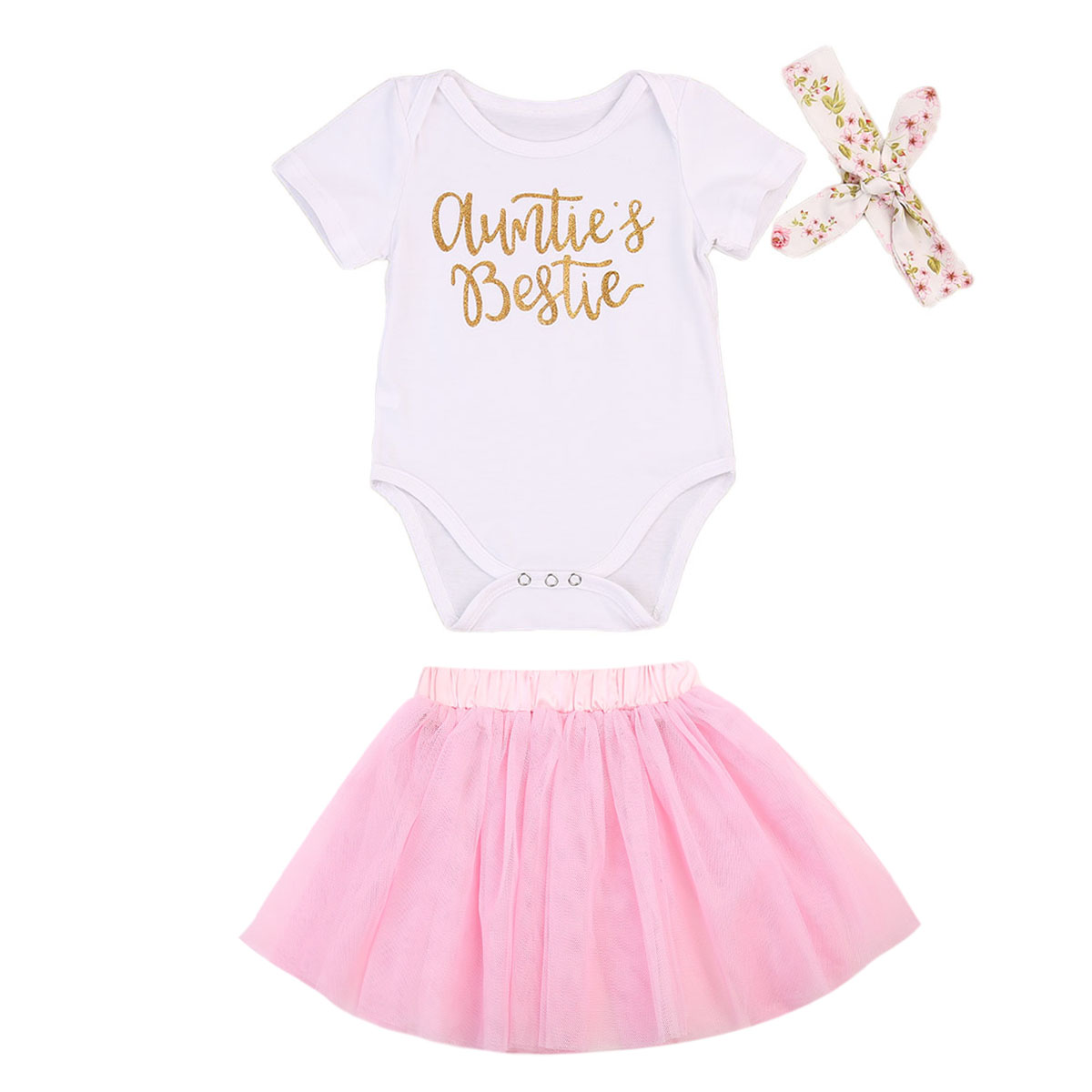 3pcs Cute Newborn Baby Girls Clothes Short Sleeve Letters Print Romper+Tutu Tulle Skirts+Headwear Sets Summer Cotton Baby Sets new fashion toddler kids baby girls clothes vest t shirts tulle tutu skirts princess 2pcs sets summer cute outfits