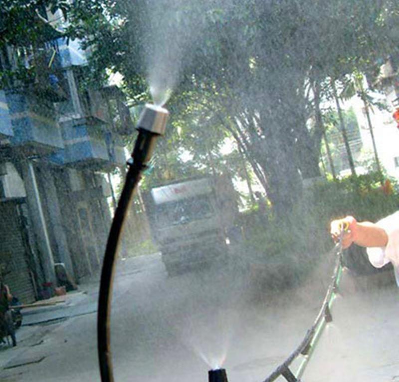 HTB1rt7SKpXXXXX4aXXXq6xXFXXX9 - 1 Sets Fog Nozzles irrigation system - Automatic Watering 10m Garden hose Spray head with 4/7mm tee and connector