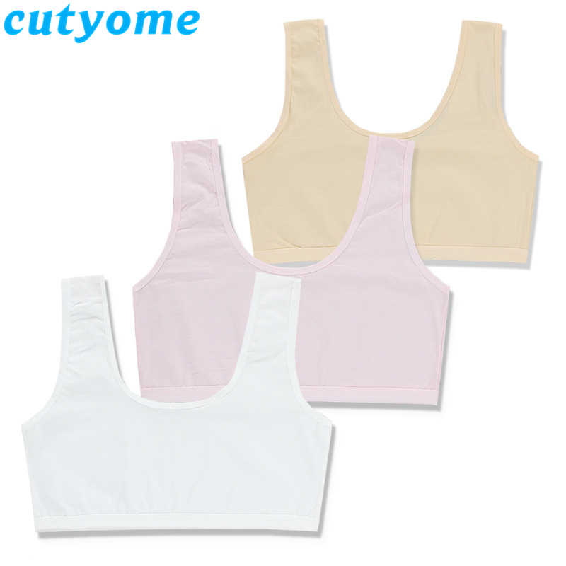 Kids Bra For Teenage Girls Children Underwear Cotton Solid Color Small Young School Student Vest Bras Teen Girl Summer Clothing