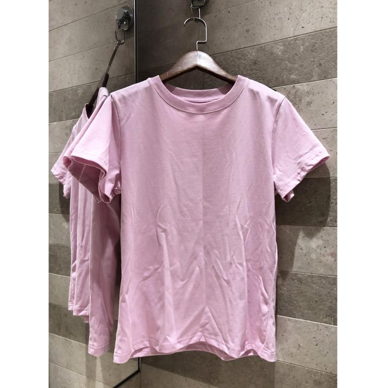 New Women s T Shirt Rose Print Cotton O neck Top T Shirt Summer Style Women