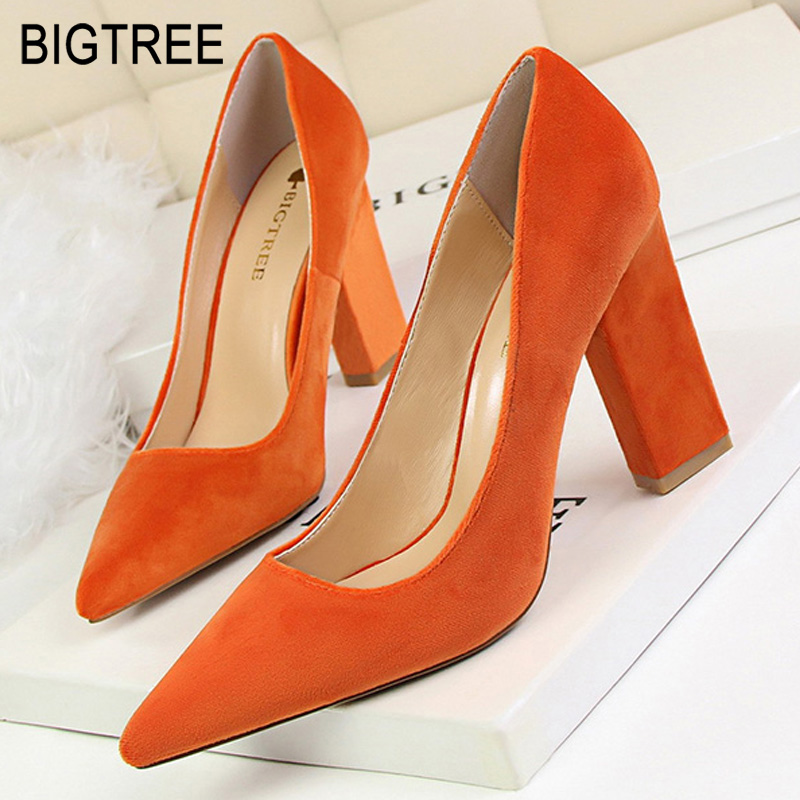 Bigtree Shoes Classic Pumps Women Wedding Shoes Suede High Heel New Women Party Shoes Women Heels Sexy Female Stiletto 9 ColorBigtree Shoes Classic Pumps Women Wedding Shoes Suede High Heel New Women Party Shoes Women Heels Sexy Female Stiletto 9 Color