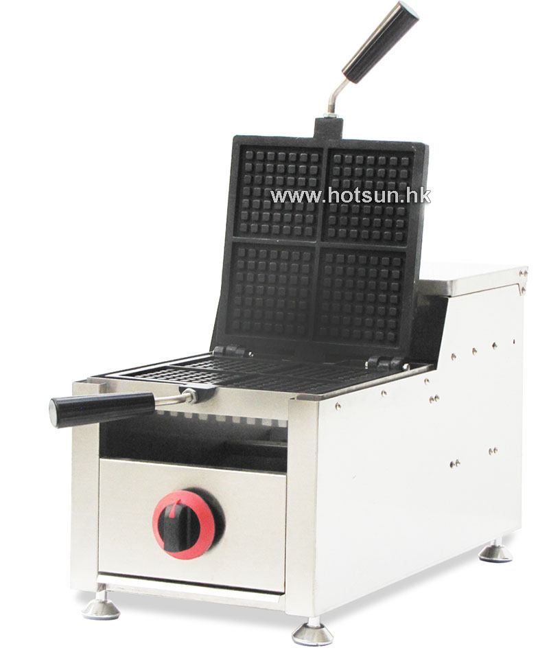 Commercial Non-stick Electric 4-Slice LPG Gas Rotary Waffle Maker Iron Machine commercial non stick lpg gas rotated 4 slice heart shaped waffle iron maker baker machine