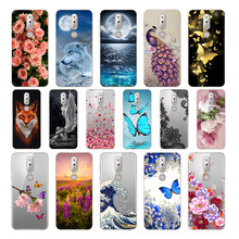 Soft TPU Case For Nokia 7.1 5.84 Silicone Cute Flower Phone Print Painted Shell 7 2018
