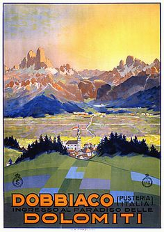 diy wall decor with pictures.htm dobbiaco dolomites travel italy view landscape vintage retro kraft  dobbiaco dolomites travel italy view