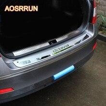 Aosrrun для Skoda Octavia A7 2015-2017 седан-Stying после охраны задний бампер багажник гвардии порога пластины автомобиля Интимные аксессуары