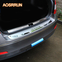 For Skoda Octavia A7 2015 2017 Sedan Car Stying After Guard Rear Bumper Trunk Guard Door