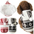 Hot Selling Soft Winter Warm Pet Clothes Cozy Snowflake Dog Costume Clothing Jacket Teddy Hoodie Coat