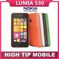 Teléfono Nokia Lumia 530, unlocked Quad Core Dual Sim ventana RAM 512 MB ROM 4 GB cámara de 5MP 3 G WCDMA celular