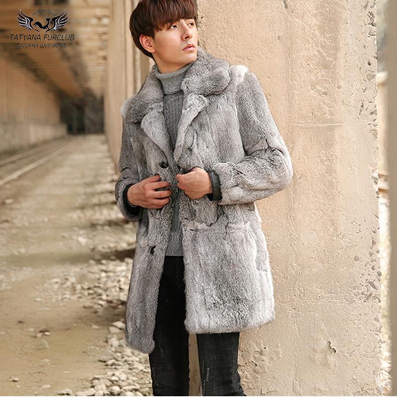 Tatyana Furclub Real Fur Rabbit Fur Jackets Winter Overcoats For Men Real Fur Coat From Nature Full Pelt Rabbit Furs Fashion