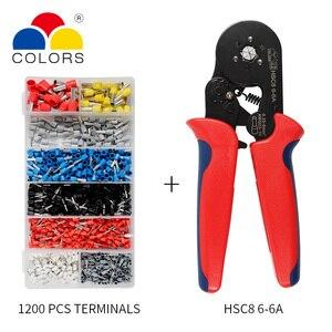 Image 1 - Einstellbare Terminal Crimpen Zangen Automatische Kabel Abisolierzange Abisolieren Crimper Werkzeug mit 1200 Terminals Kit