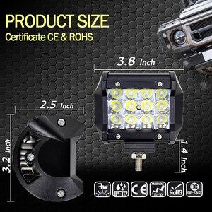 Image 2 - 2Pcs Led Light Bar 4x4 36W 6000K Day Lights Offroad Car Barra Led Work Light For Ford Jeep Motorcycle ATV UTV SUV Truck Boat