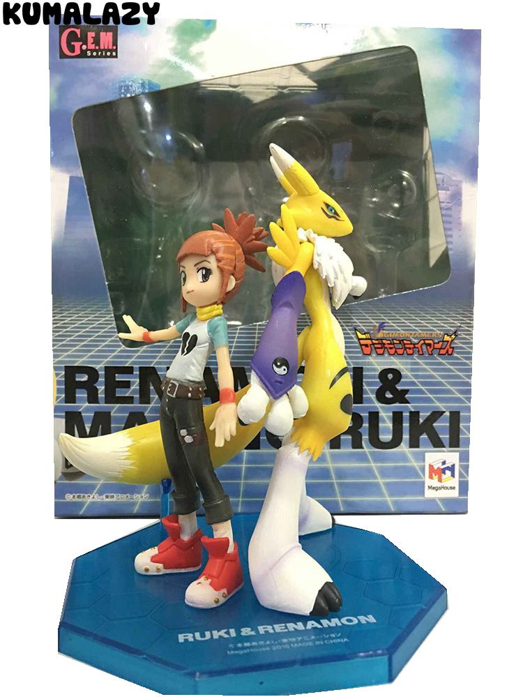 Toy Bus Digimon Adventure Digital Monster Makino Ruki Renamon Digimon Queen Cartoon Toy PVC Action Figure Model Doll Gift