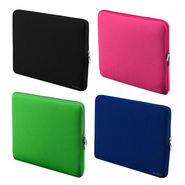 """Ноутбук Сумка 11 13 13.3 15 15.6 """"дюймовый портативный молнии мягкий рукав ноутбук сумки для женщин подарок macbook pro air 4 ноутбук телефон"""