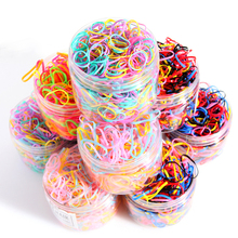 500/1000pcs/box Child Baby Gum Disposable Elastics Hair Bands