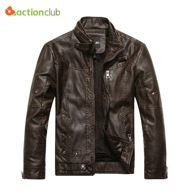 2015 New Arrival Brand Motorcycle Leather Jackets Men Jaqueta De Couro Masculina Mens Leather Jackets Zip Leather Jackets