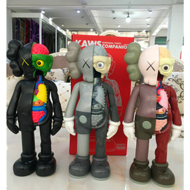 37CM KAWS Dissected Companion Brian OriginalFake Street Art BFF Action Figure Collectible Model Toy Medicom Toy L1638 12 inch kaws bff pink rabbit fashion doll originalfake brian street art pvc action figure collectible model toy retail box s168