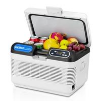 KEMIN 12L Mini Car Clamshell Fridge Auto Freezer Refrigeration Medicine Refrigerator Silent LED Display Icebox Cooler Heater