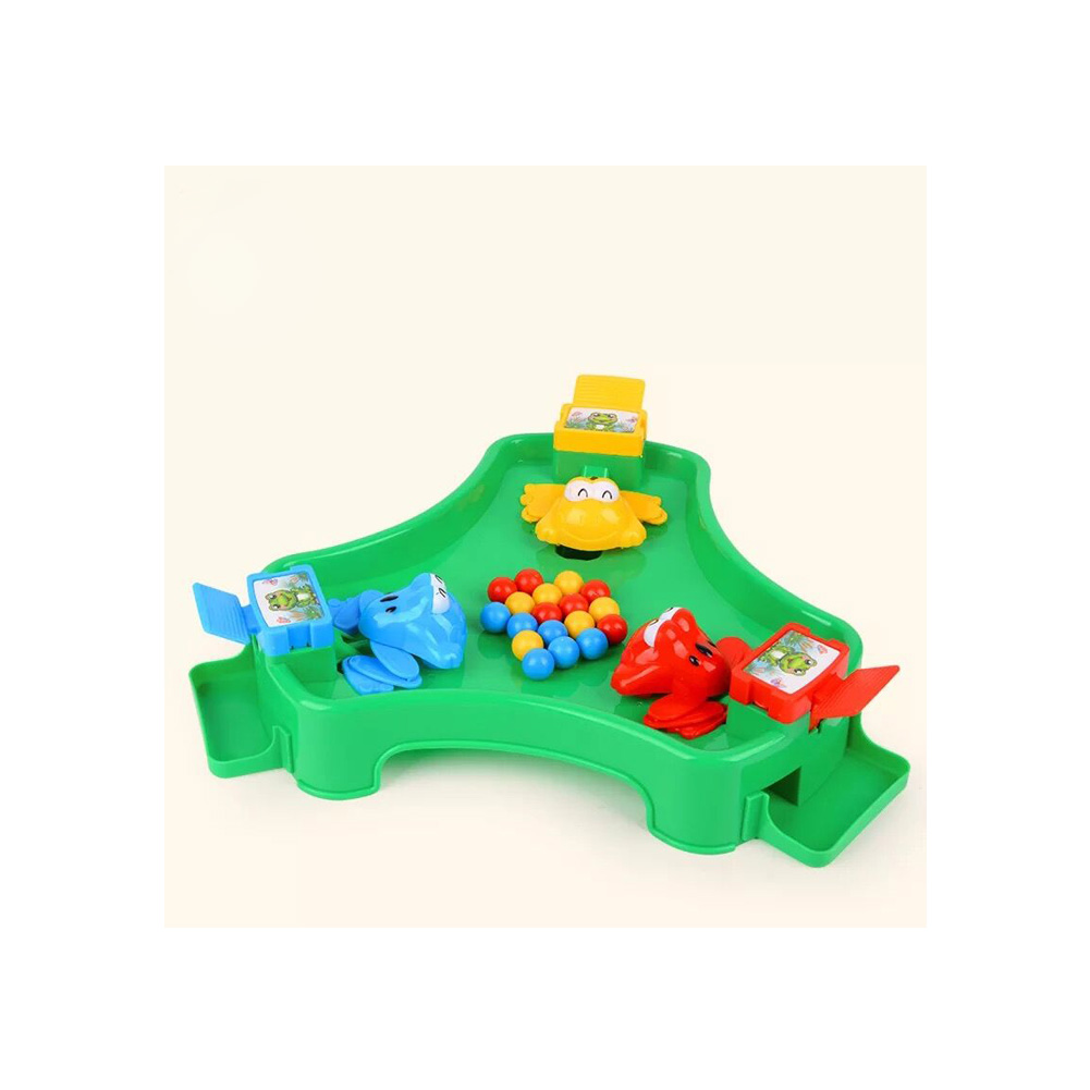 Table Game Toy Frog Eating Bean Race Grab Food Contest Desktop Interactive Game Brain Training Educational Toys for 3 Players image