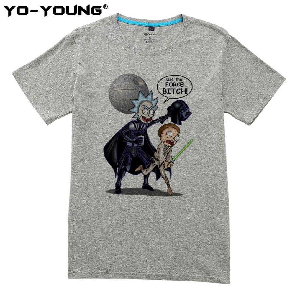 Νέο Rick και Morty T Shirts Ανδρικά Star Wars Design - Ανδρικός ρουχισμός - Φωτογραφία 2