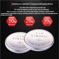 Alta qualidade NOVO 6 PCSX LIR2032 3.6 V botão célula de bateria LIR2032 recarregável pkcell bateria pode substituir a bateria CR2032