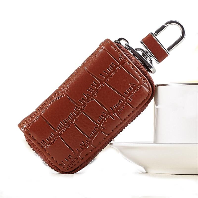 1 Pc Pu Leder Keychain Männer Frauen Schlüssel Halter Veranstalter Beutel Auto Schlüssel Tasche Brieftasche Haushälterin Key Fall Mini Karte Tasche