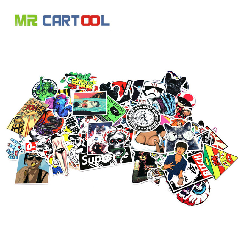 100pcs car styling JDM Unique decal DIY sticker for Graffiti Car Cover Skateboard Snowboard Motorcycle Bike Laptop Luggage dc vinyl sticker decal jdm for euro ski skateboard snowboard jap car block