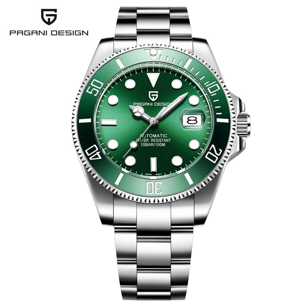marca de luxo masculino relógios automático preto