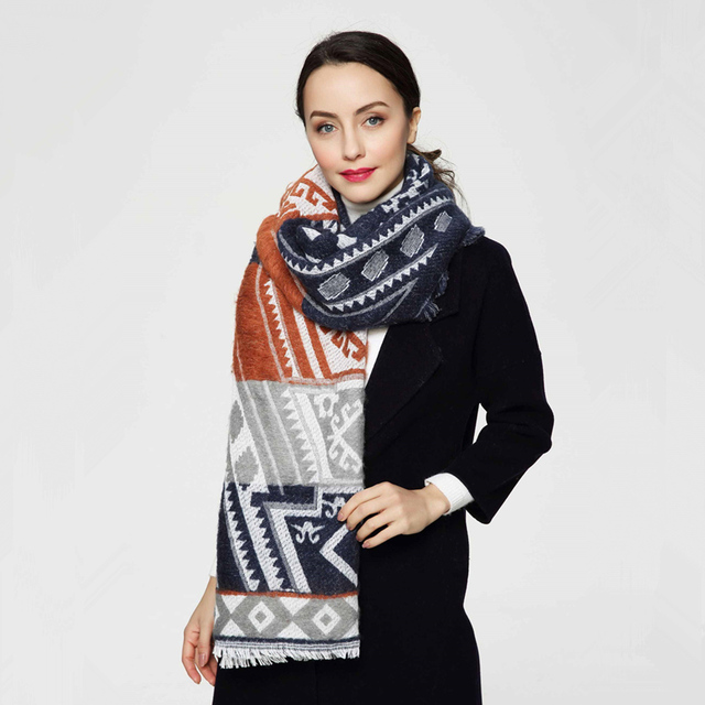 2016 Brand Scarf Women High Quality Cotton shawls and scarves Fashion Warm Winter Scarf Woman PJ043