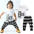 НОВЫЕ Детские одежда малышей детей летние мальчики комплектов одежды мультфильм 2 шт. Cartoon stripes одежда наборы мальчики летний набор