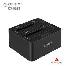 ORICO 2-bay Externe Disque Dur Station D'accueil USB3.0 vers SATA 2.5 3.5 dans avec Hors Ligne Clone Support UASP Protocole 16 TB (6629US3)