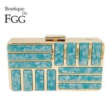 57f9ae0ec Boutique De FGG Mármore Impressão Bolsas De Luxo Mulheres Sacos Designer de Acrílico  Caixa de Cadeia de Embreagem Bolsa de Ombro.