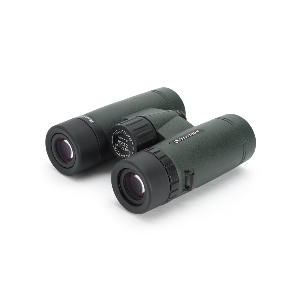 Celestron TrailSeeker 8x32 Binocular Telescope High Power Multi Coated Jumelles for Hunting Hiking Camping Travel