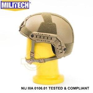Image 3 - ISO Certified MILITECH CB NIJ Level IIIA 3A FAST OCC Liner High XP Cut Bulletproof Aramid Ballistic Helmet With 5 Years Warranty