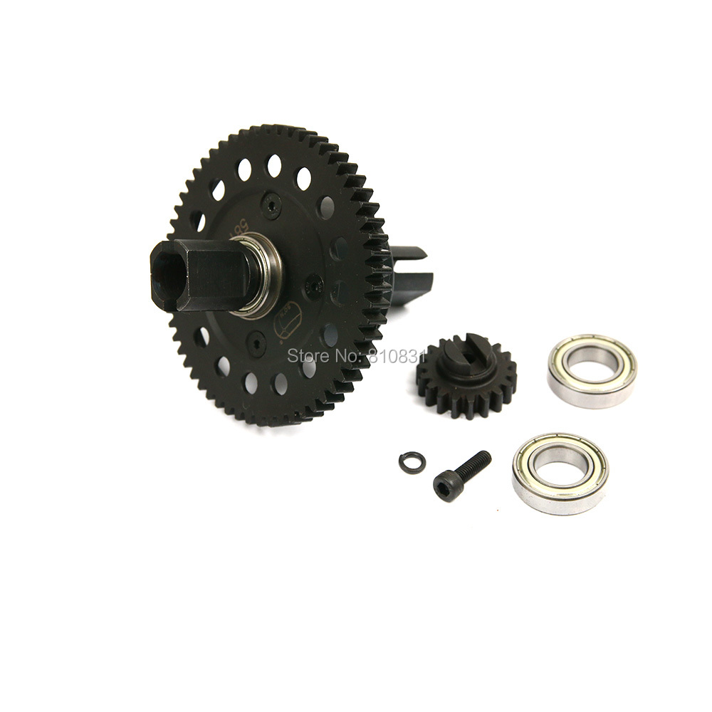 1/5 rc car Metal middle complete diff gear set/Metal middle differential assembly set fit losi 5ive hpi rovan LT DDT toy part wltoys 12428 12423 1 12 rc car spare parts 12428 0091 12428 0133 front rear diff gear differential gear complete