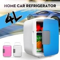 Mini Portable 4L Cooling Refrigerators Fridge Freezer Cooler Travel Warmer for Auto Car Home Office Outdoor Picnic Travel
