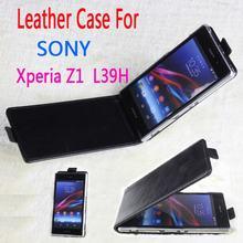 100% Высокое качество кожаный чехол для Sony Xperia Z1 L39h флип чехол для Sony Z 1 XperiaZ1 кожаный чехол случаи телефона