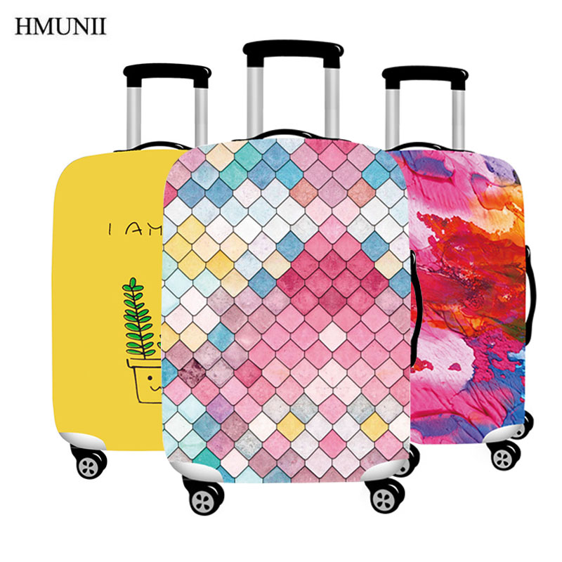 HMUNII Hot Fashion Elastic Luggage Protective Cover, Suitable 18-32 Inch , Trolley Case Suitcase Dust Cover Travel Accessories